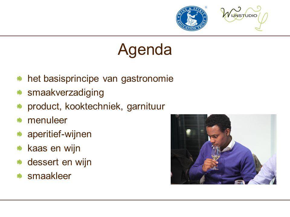 Agenda het basisprincipe van gastronomie smaakverzadiging
