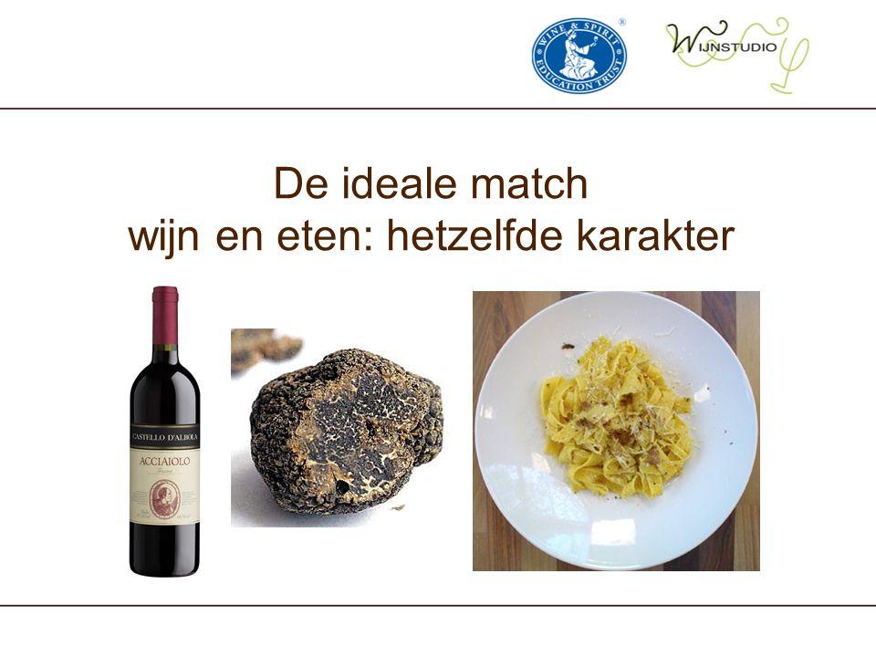 De ideale match wijn en eten: hetzelfde karakter