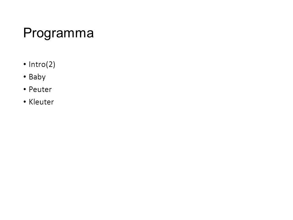 Programma Intro(2) Baby Peuter Kleuter
