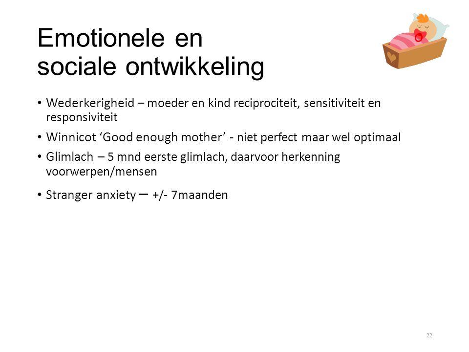 Emotionele en sociale ontwikkeling