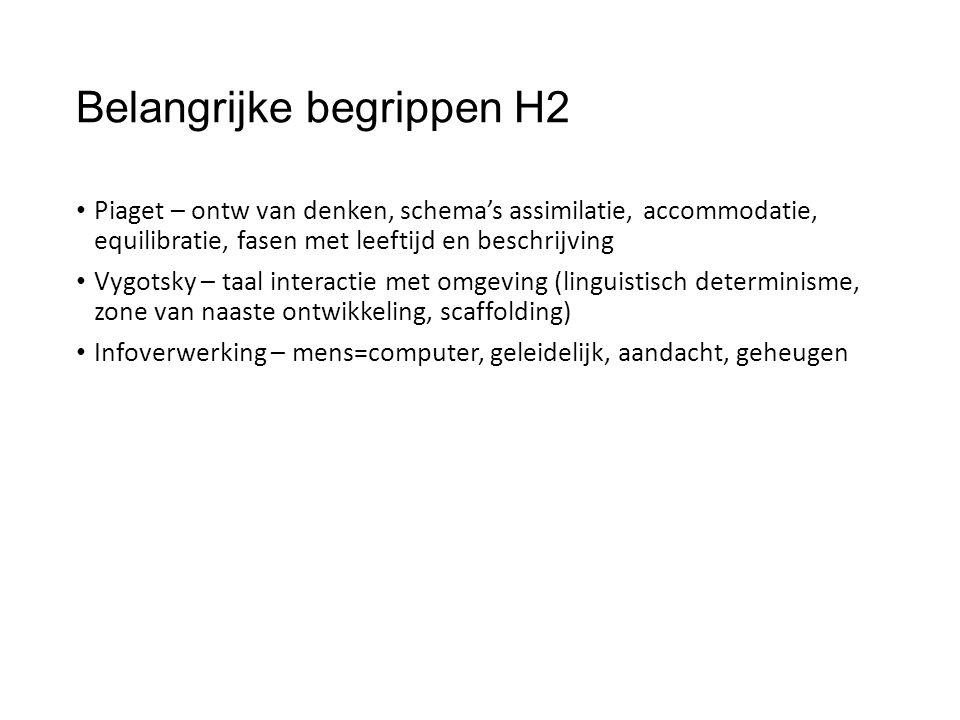 Belangrijke begrippen H2