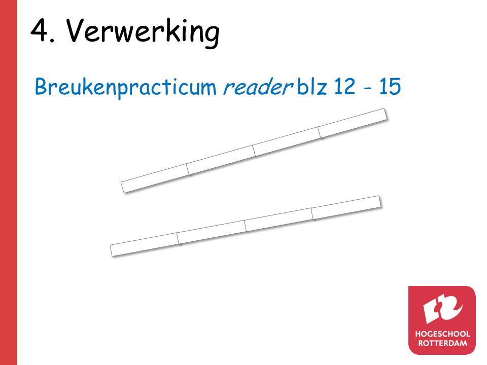 4. Verwerking Breukenpracticum reader blz 12 - 15