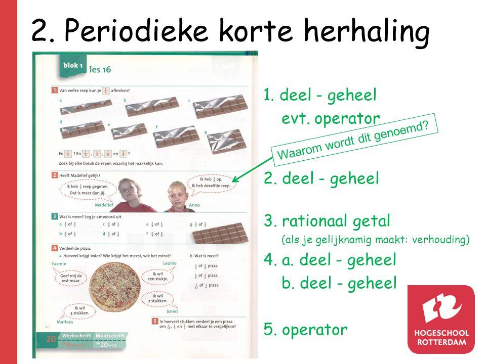 2. Periodieke korte herhaling