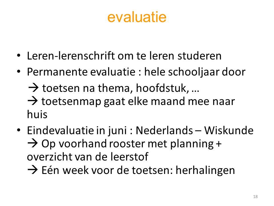evaluatie Leren-lerenschrift om te leren studeren