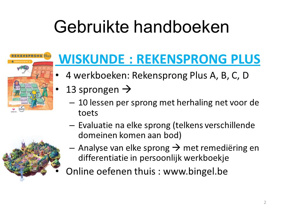 Gebruikte handboeken WISKUNDE : REKENSPRONG PLUS