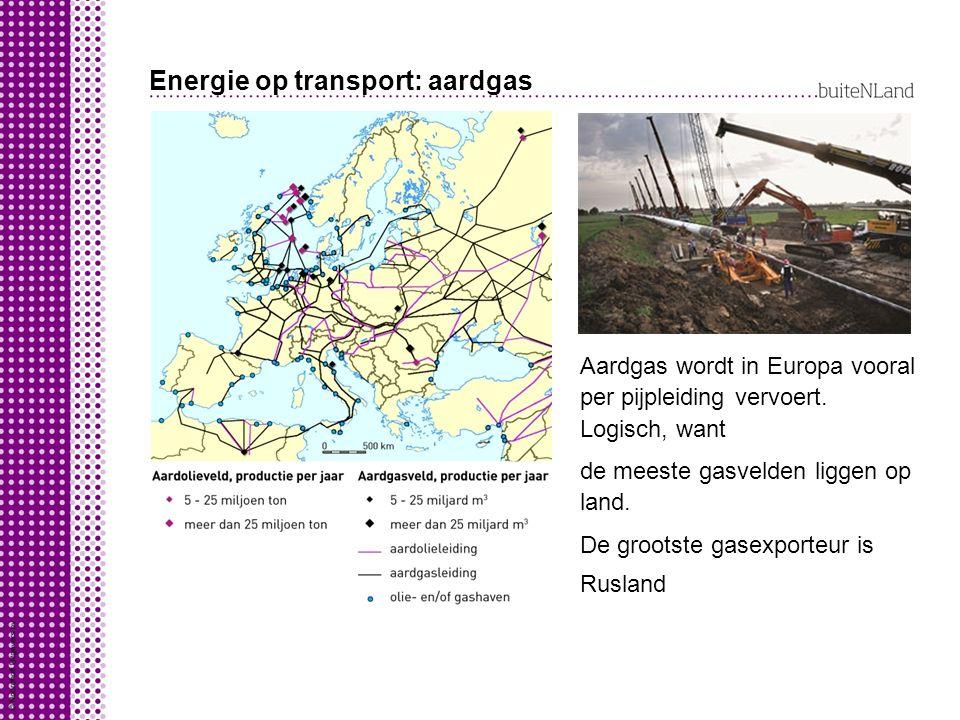 Energie op transport: aardgas