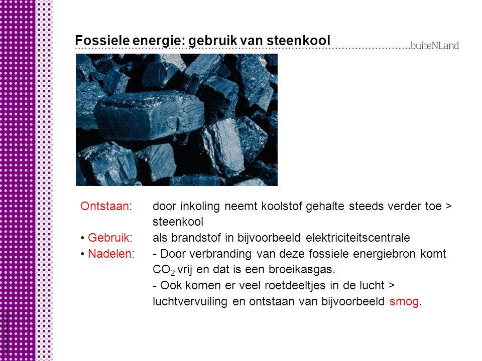 Fossiele energie: gebruik van steenkool