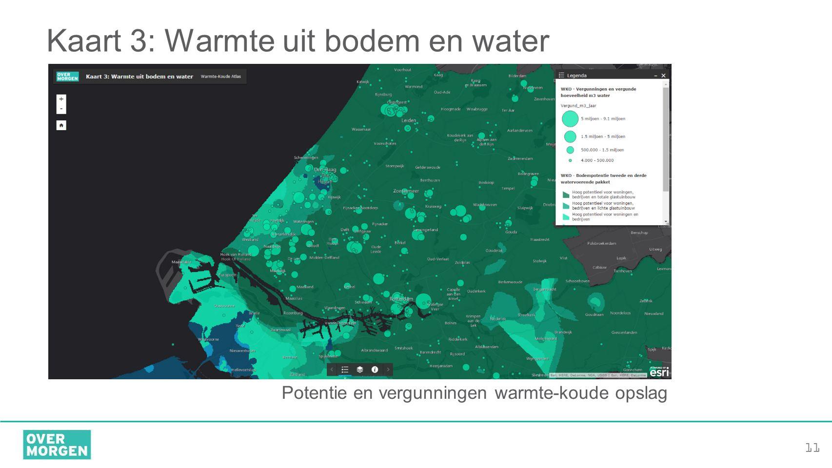 Kaart 3: Warmte uit bodem en water