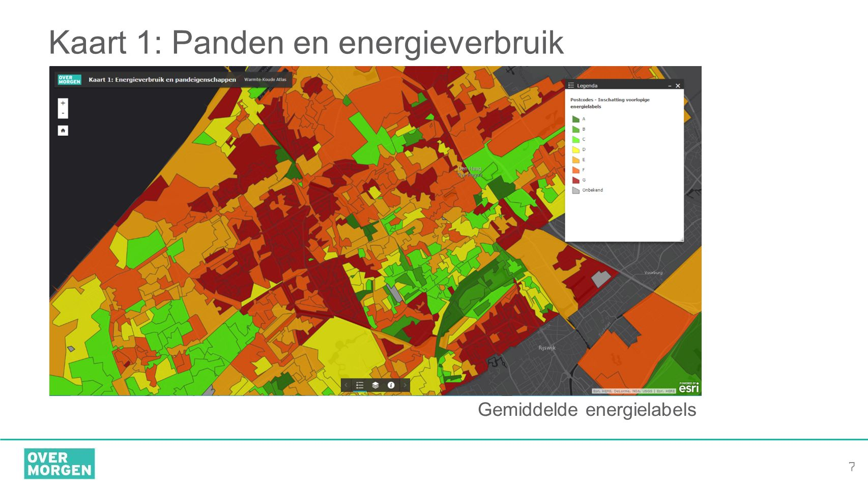 Kaart 1: Panden en energieverbruik