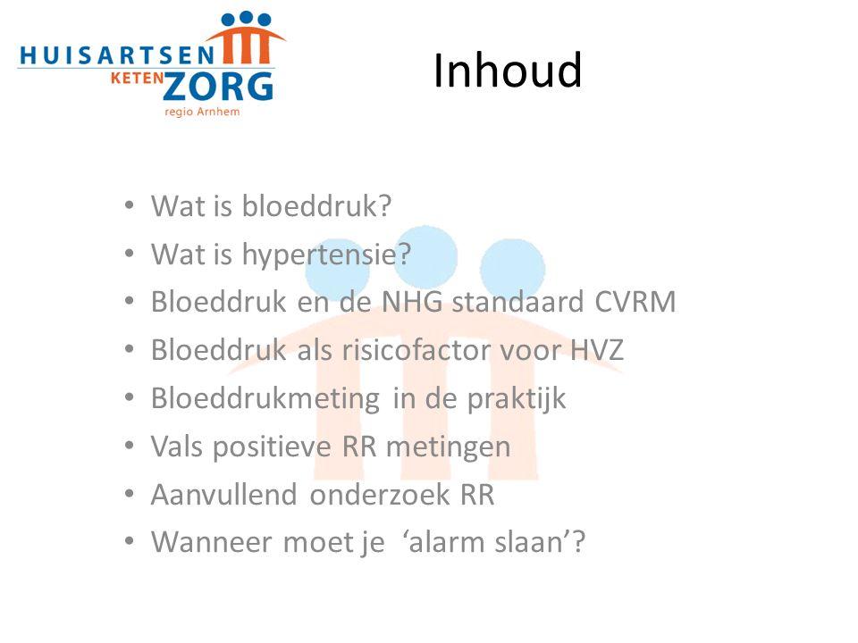 Inhoud Wat is bloeddruk Wat is hypertensie