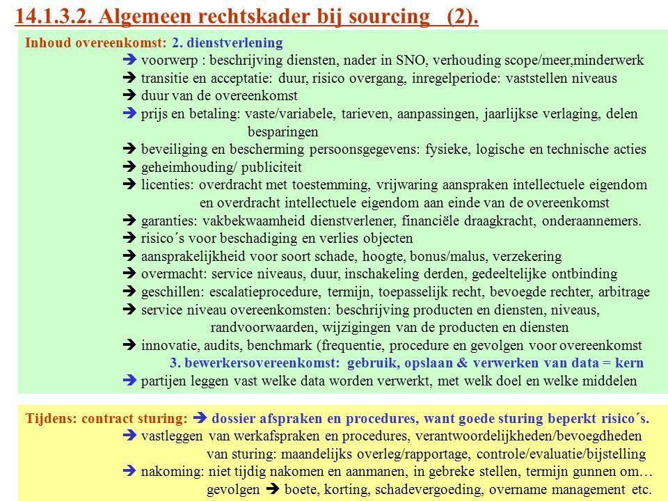 14.1.3.2. Algemeen rechtskader bij sourcing (2).