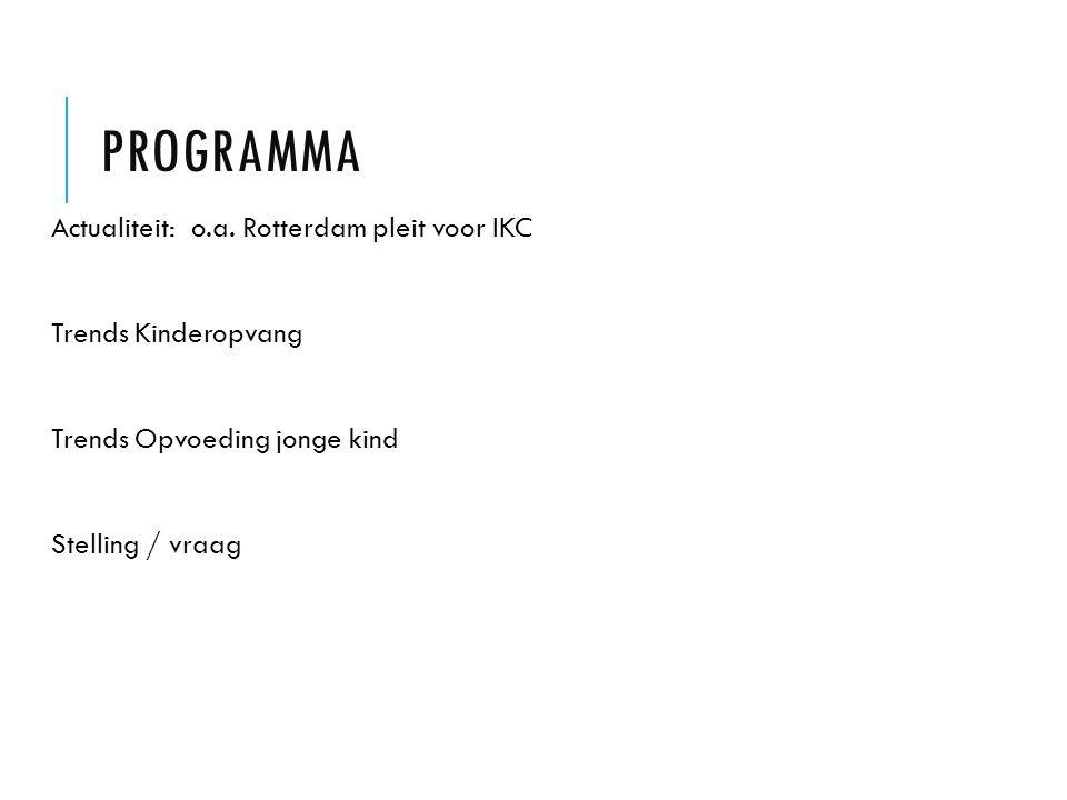 Programma Actualiteit: o.a. Rotterdam pleit voor IKC