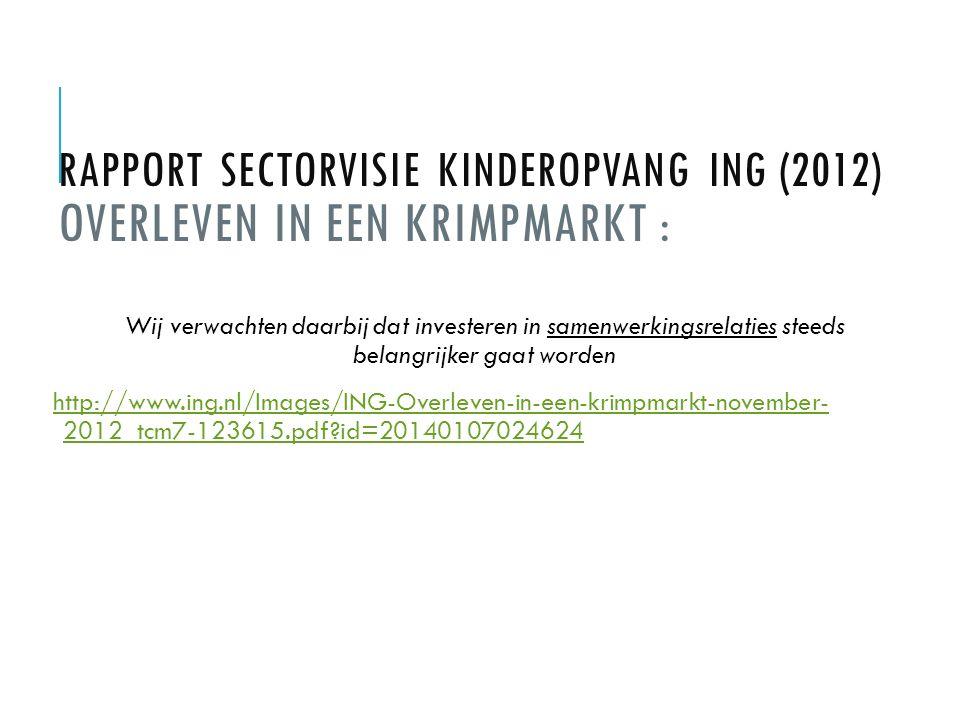 Rapport Sectorvisie Kinderopvang ING (2012) Overleven in een krimpmarkt :