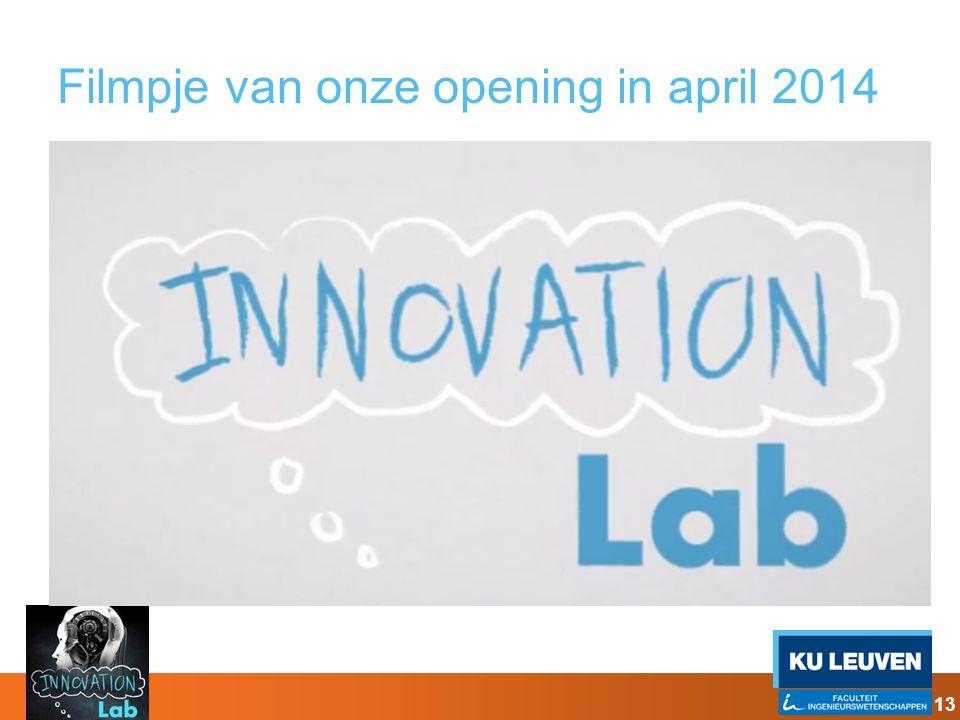 Filmpje van onze opening in april 2014