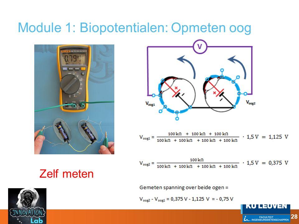 Module 1: Biopotentialen: Opmeten oog