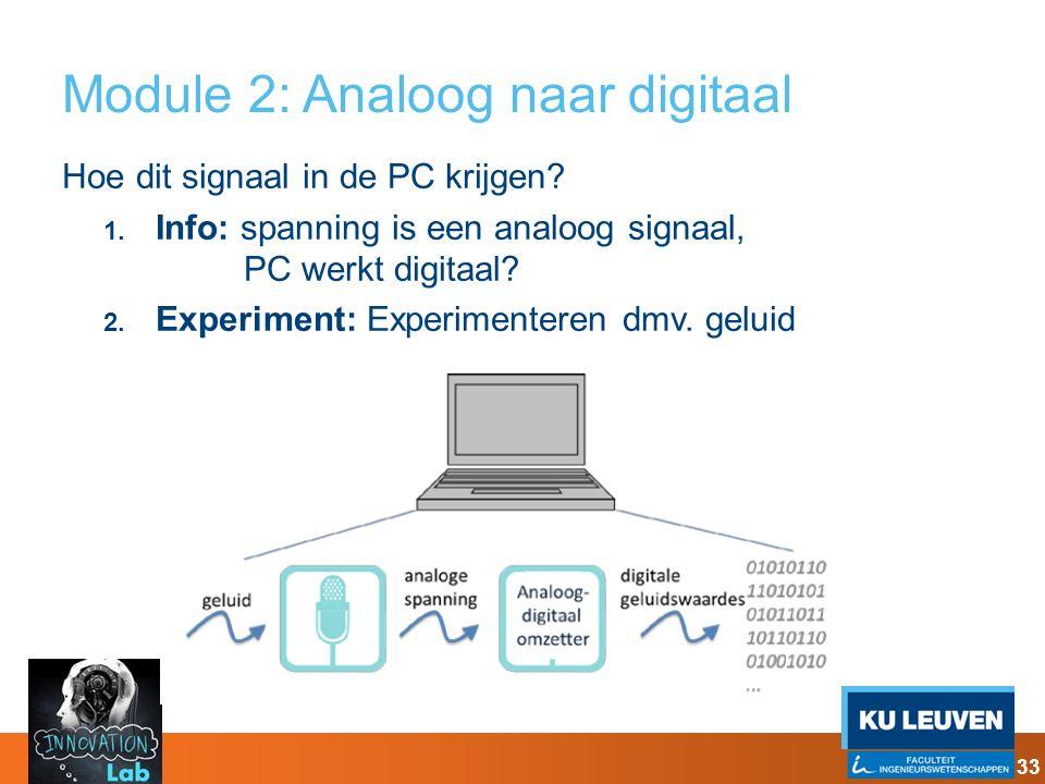 Module 2: Analoog naar digitaal