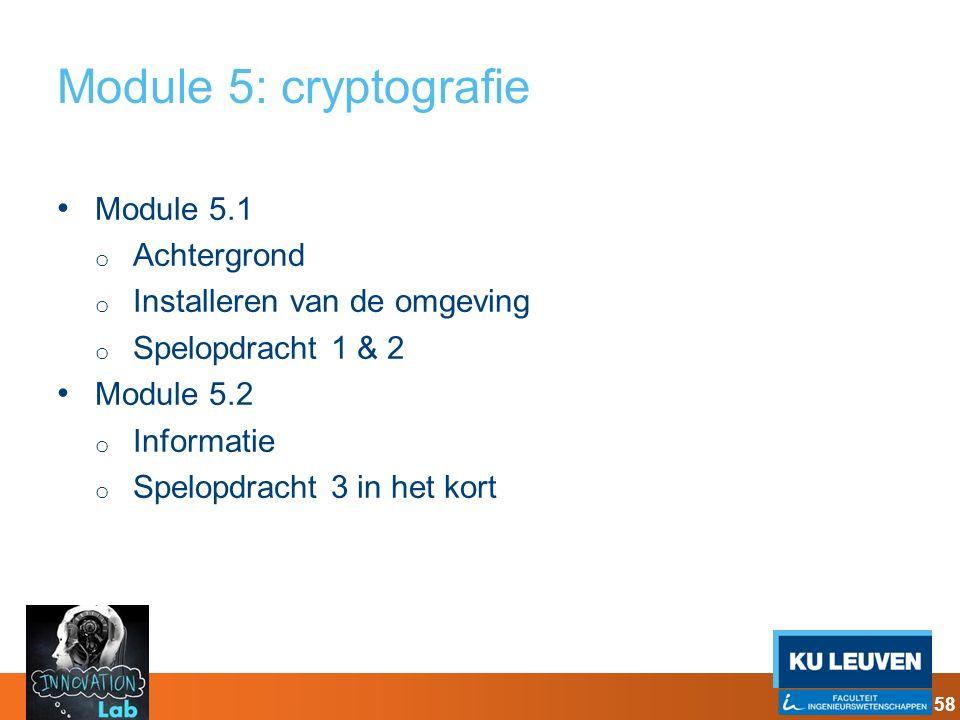 Module 5: cryptografie Module 5.1 Achtergrond