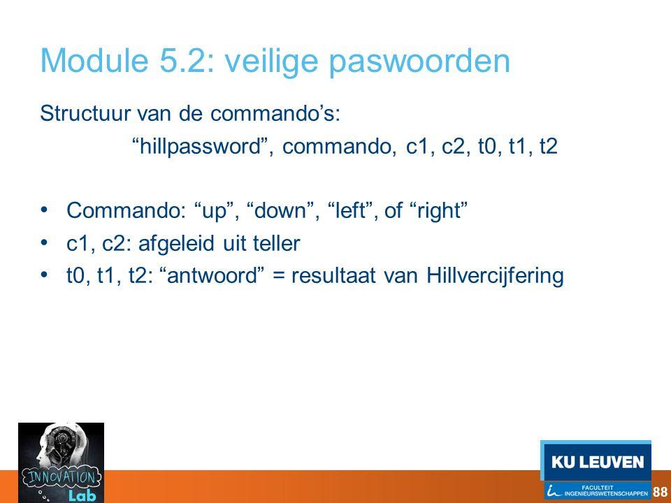 Module 5.2: veilige paswoorden