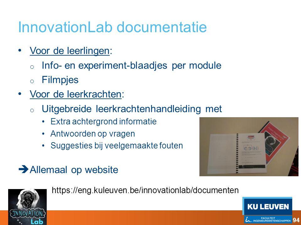 InnovationLab documentatie