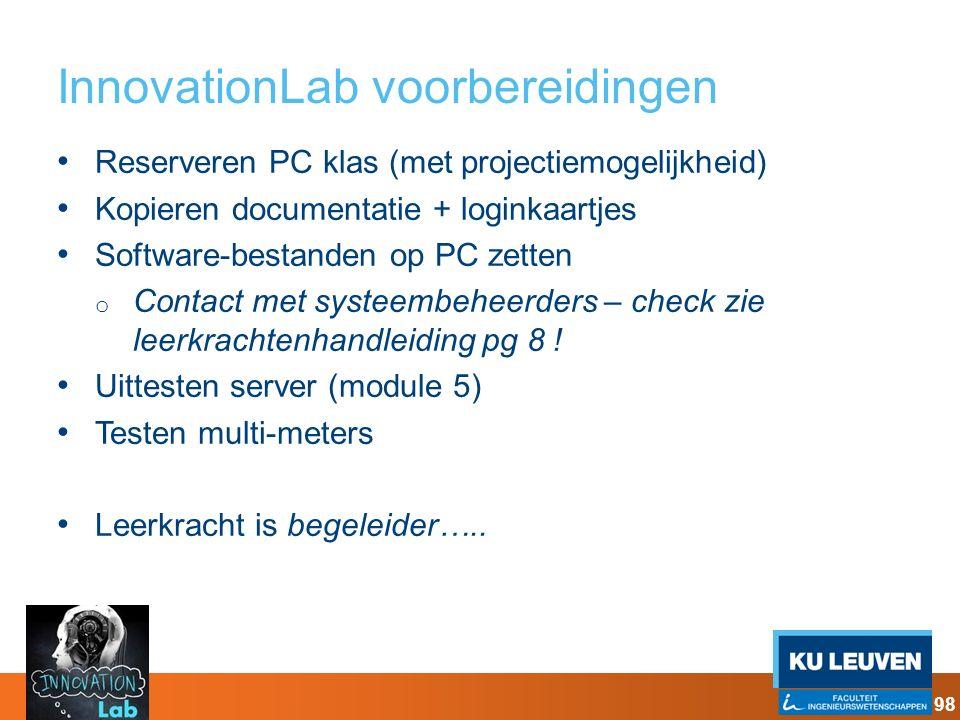 InnovationLab voorbereidingen
