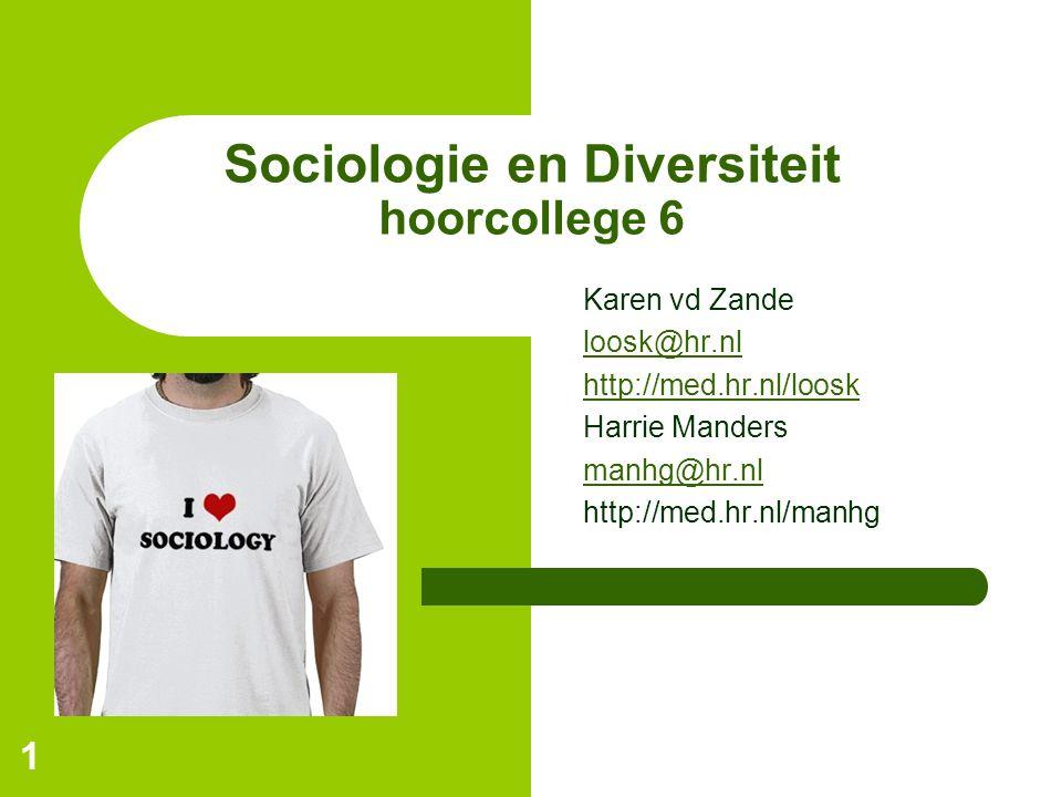 Sociologie en Diversiteit hoorcollege 6