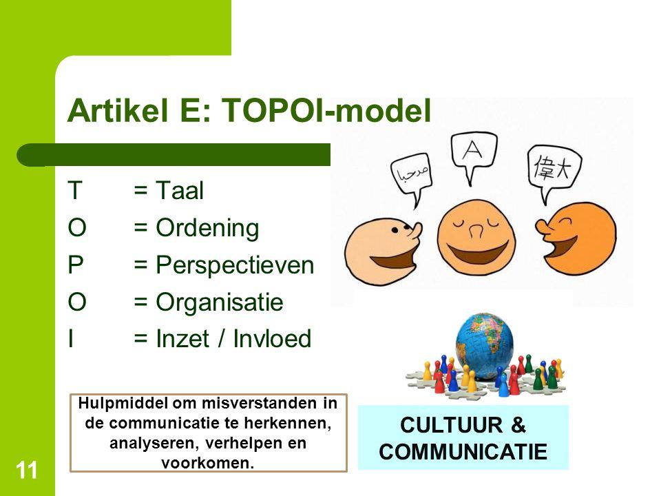 Artikel E: TOPOI-model