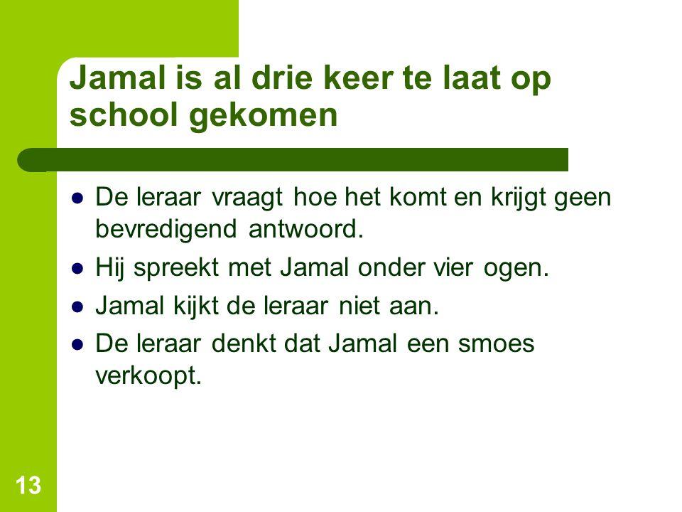Jamal is al drie keer te laat op school gekomen