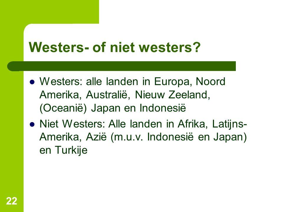 Westers- of niet westers