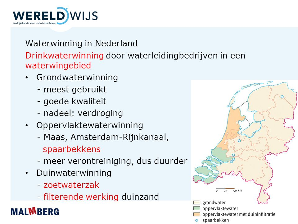 Waterwinning in Nederland