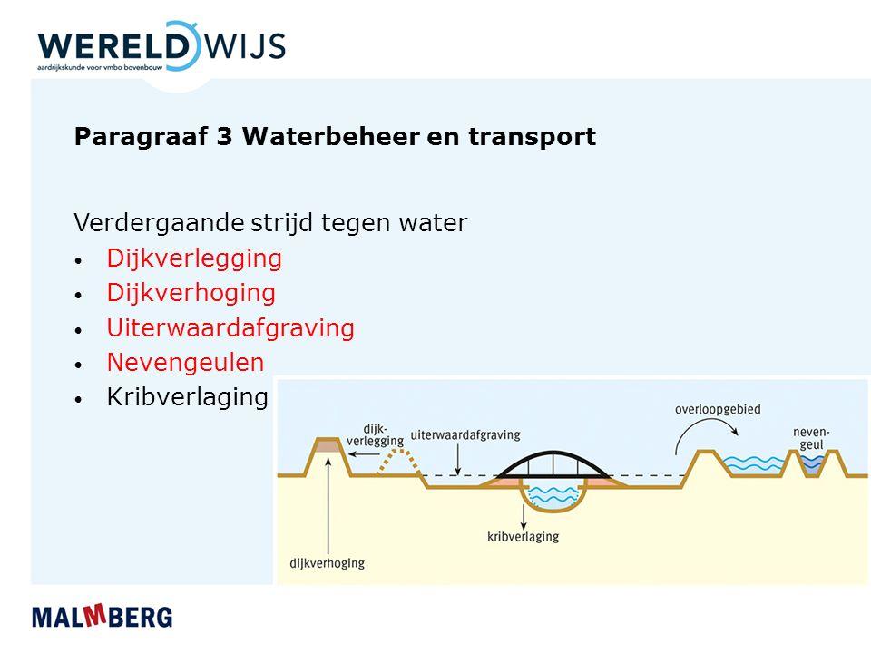 Paragraaf 3 Waterbeheer en transport