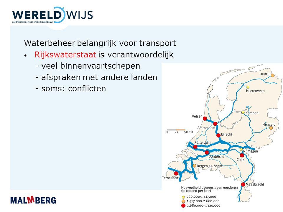 Waterbeheer belangrijk voor transport - veel binnenvaartschepen