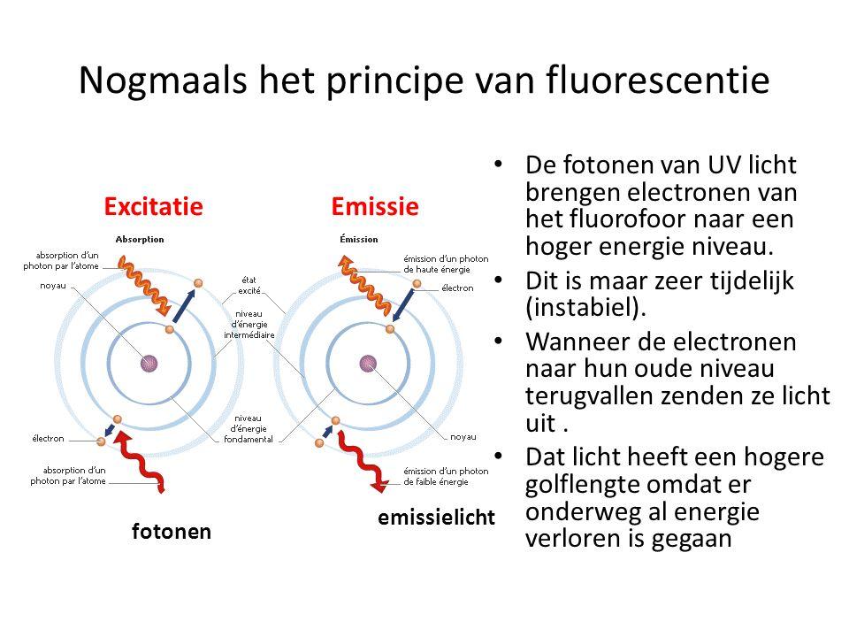 Nogmaals het principe van fluorescentie