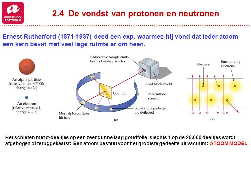 2.4 De vondst van protonen en neutronen