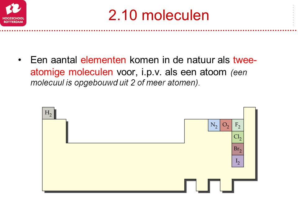 2.10 moleculen