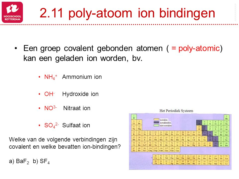 2.11 poly-atoom ion bindingen