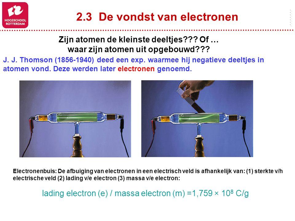 2.3 De vondst van electronen