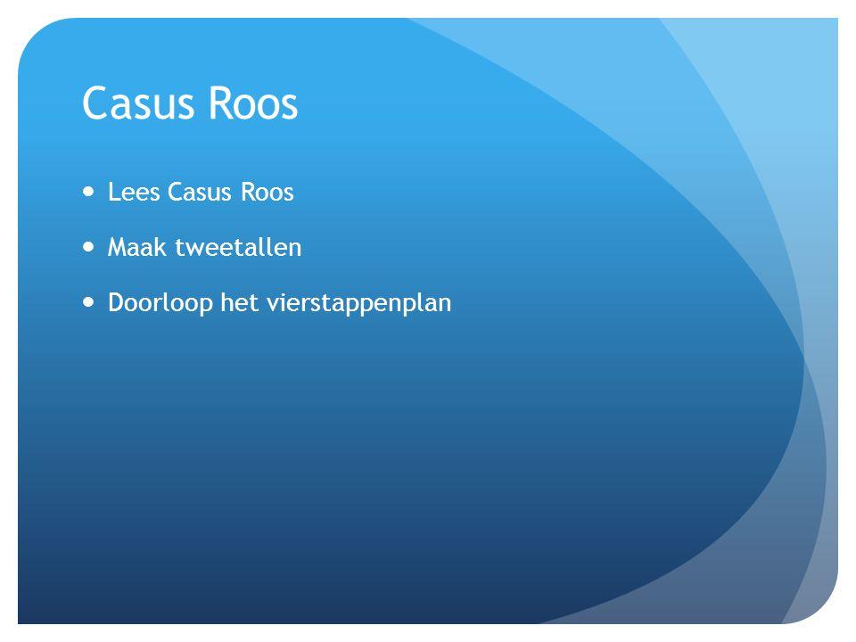 Casus Roos Lees Casus Roos Maak tweetallen