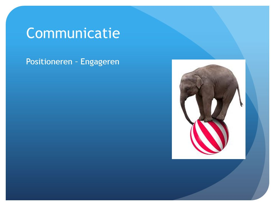 Communicatie Positioneren – Engageren