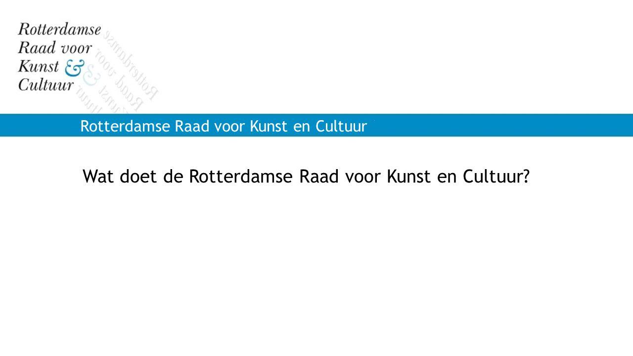 Wat doet de Rotterdamse Raad voor Kunst en Cultuur
