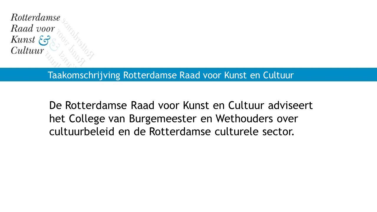 Taakomschrijving Rotterdamse Raad voor Kunst en Cultuur