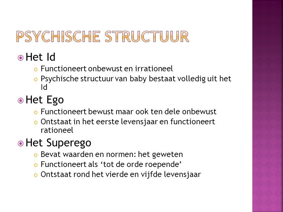 Psychische structuur Het Id Het Ego Het Superego
