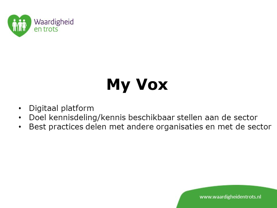 My Vox Digitaal platform
