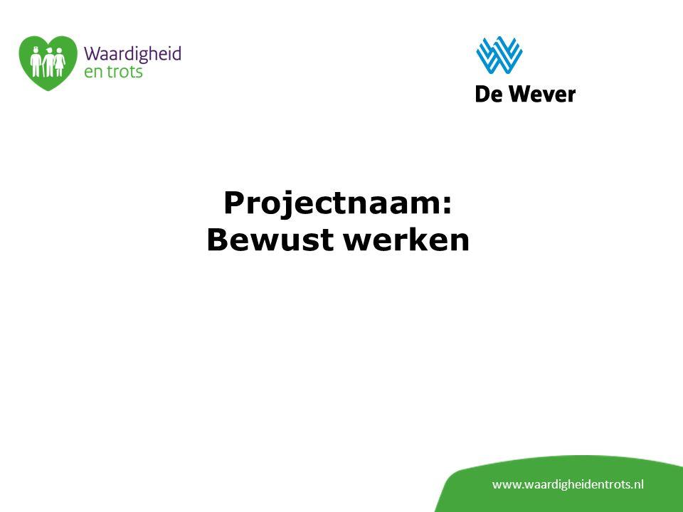 Projectnaam: Bewust werken