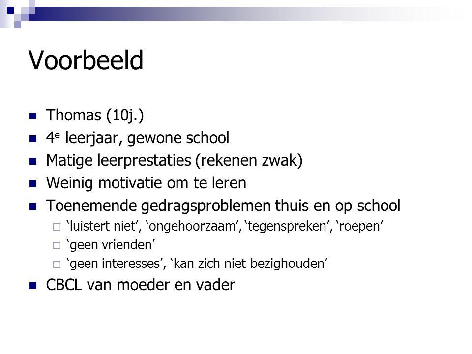 Voorbeeld Thomas (10j.) 4e leerjaar, gewone school