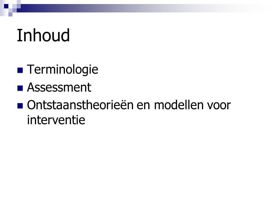 Inhoud Terminologie Assessment
