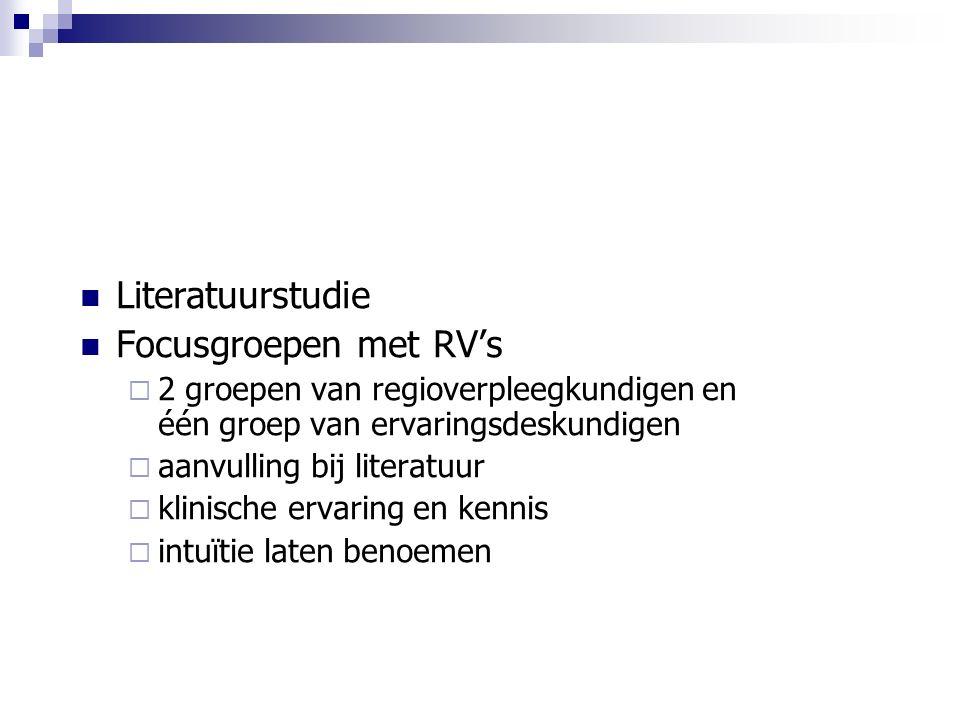Literatuurstudie Focusgroepen met RV's