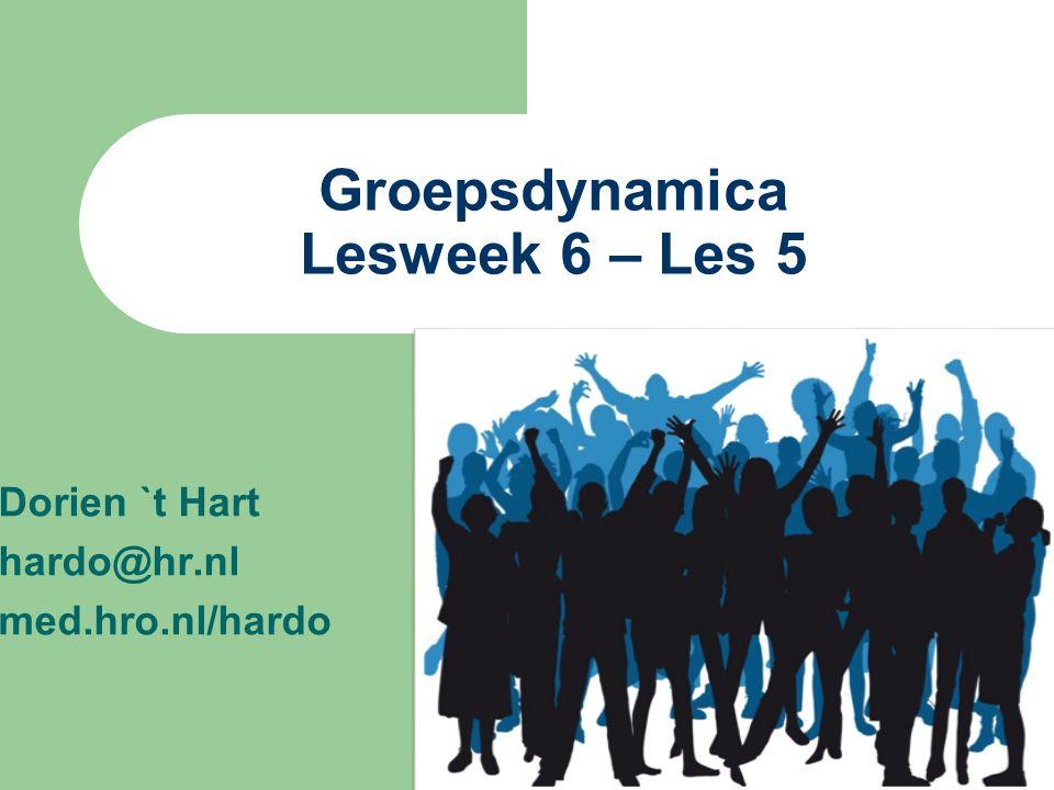 Groepsdynamica Lesweek 6 – Les 5
