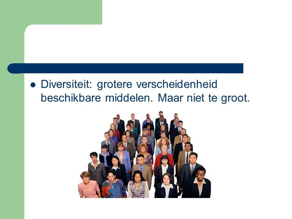 Diversiteit: grotere verscheidenheid beschikbare middelen