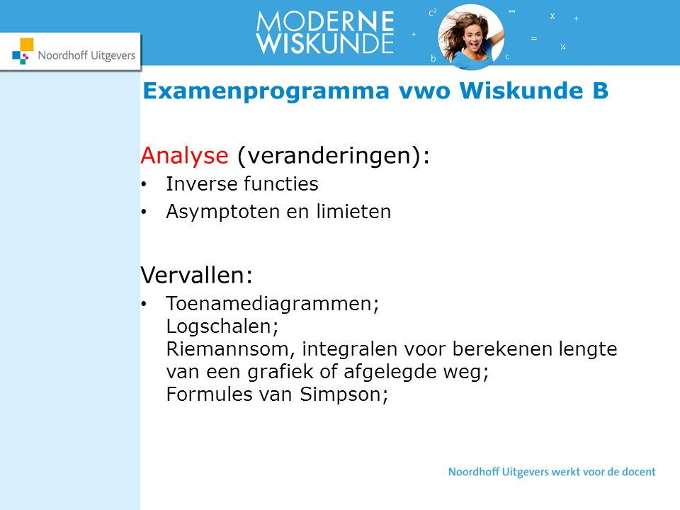 Examenprogramma vwo Wiskunde B