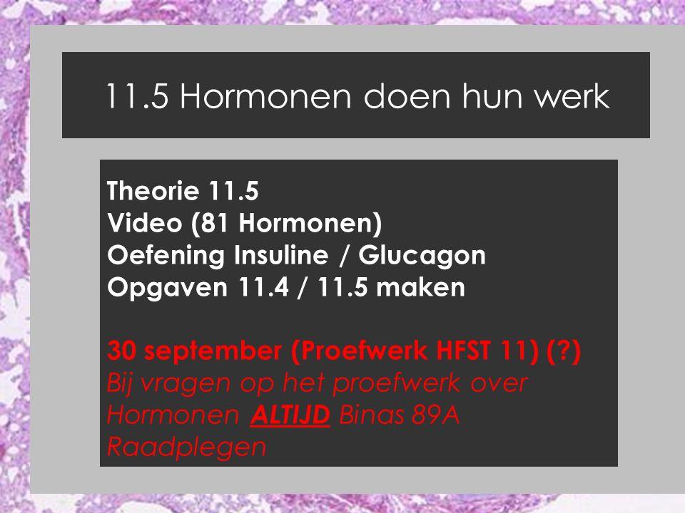 11.5 Hormonen doen hun werk Theorie 11.5 Video (81 Hormonen)